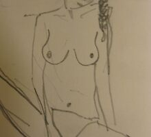 nude with a pigtail by Alfred Gillespie