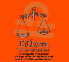 Libra the scales in orange Kids Tee