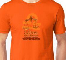 Libra the scales in orange Unisex T-Shirt