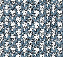Totoros Chu & Chibi Pattern by chibityness