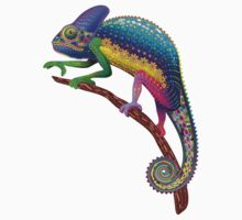 Chameleon Fantasy Rainbow Colors Kids Clothes