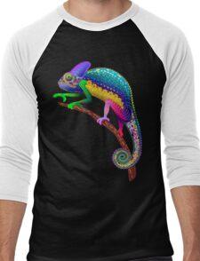 Chameleon Fantasy Rainbow Colors Men's Baseball ¾ T-Shirt