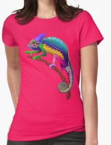 Chameleon Fantasy Rainbow Colors Womens Fitted T-Shirt