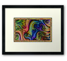 Swirls of Color for Rick Framed Print
