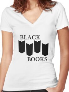 Black Books tshirt Women's Fitted V-Neck T-Shirt