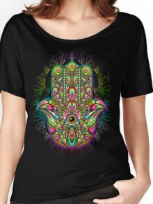 Hamsa Amulet Psychedelic Women's Relaxed Fit T-Shirt