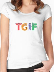 TGIF Monsters Women's Fitted Scoop T-Shirt