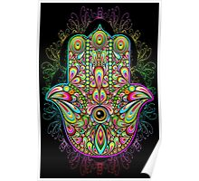 Hamsa Amulet Psychedelic Poster