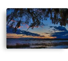Beaufort Harbor Sunset Canvas Print