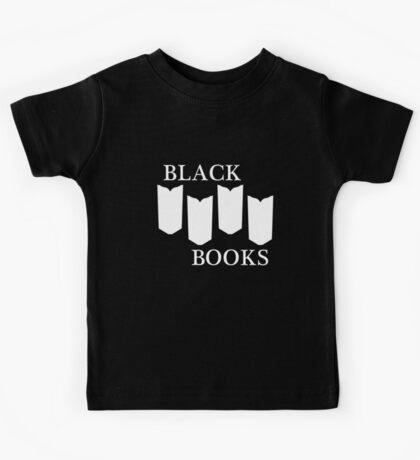 Black Books tshirt white design Kids Clothes