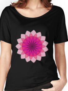 Pink Geometric flower, female sunflower Women's Relaxed Fit T-Shirt