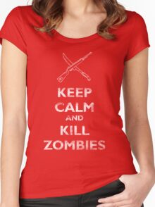 Keep calm and kill zombies Women's Fitted Scoop T-Shirt