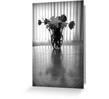 Tulips & Daffodils in Black & White Greeting Card