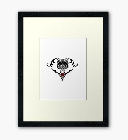 Wolf Design Framed Print