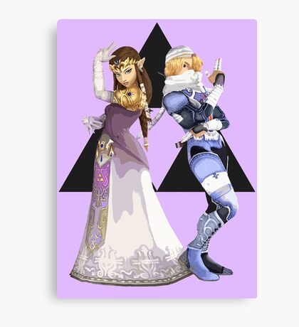 Zelda and Sheik Canvas Print