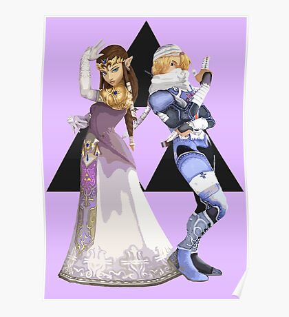 Zelda and Sheik Poster