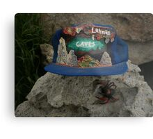Lehman Caves / fire painting on cap artwork \ and Wolf Spider Metal Print