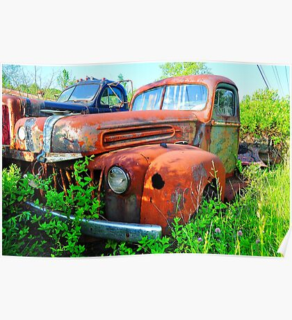 Bill's Old Truck Poster