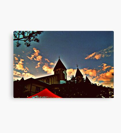 Ocean Grove Great Auditorium before sunset, summer 2008 Canvas Print