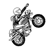 Women Who Ride - Dare Devil Photographic Print
