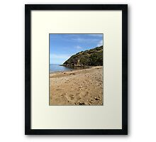 Green Hills and Calm Waters. Framed Print