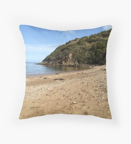 Green Hills and Calm Waters. Throw Pillow