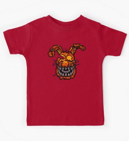 Jack-O-Bonnie - Five Nights at Freddy's 4 Halloween - Pixel art Kids Tee