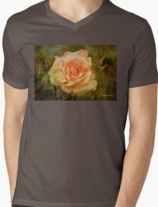 Damaged ~ a Rose with a Message Mens V-Neck T-Shirt