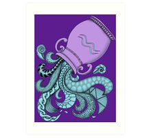 Aquarius - Purple Art Print