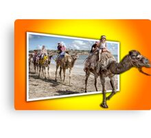 Riding Out Of The Picture Canvas Print