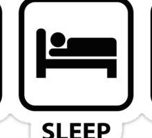 Eat Sleep Ninja Sticker