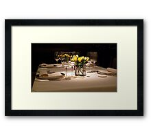 Fine Dining For Four Framed Print