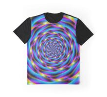 Vortex in Blue and Violet Graphic T-Shirt