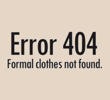 Error 404 formal clothes not found by digerati