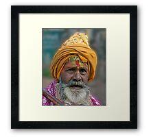 Alwar Busker Framed Print