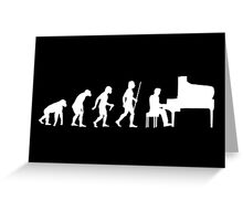 Funny Piano Evolution T Shirt Greeting Card