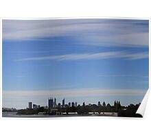 Perth and sky Poster