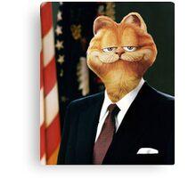 President Garfield Canvas Print