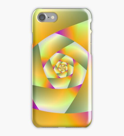 Yellow Pink and Green Spiral iPhone Case/Skin