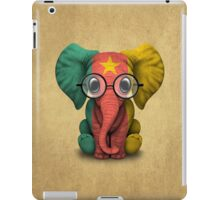 Baby Elephant with Glasses and Cameroon Flag iPad Case/Skin