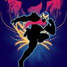 Super Smash Bros. Blue Captain Falcon Silhouette by jewlecho