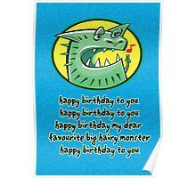 Hairy Monster Poster