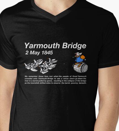 Yarmouth Bridge (Dark) Mens V-Neck T-Shirt