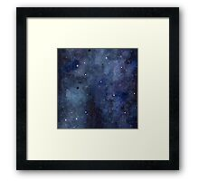 Galaxy Watercolor Framed Print