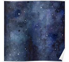 Galaxy Watercolor Poster