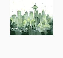 Seattle Watercolor Space Needle Skyline Unisex T-Shirt