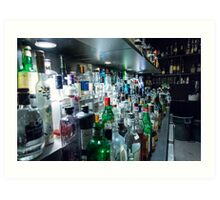 Drinks Bar Art Print