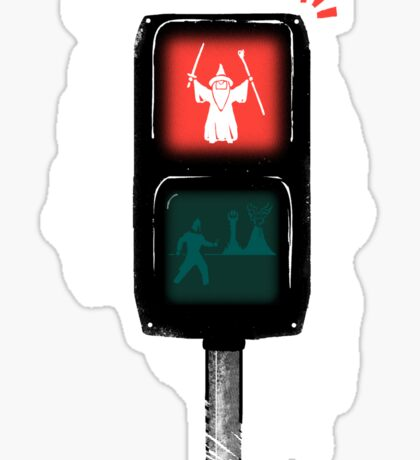 one does not simply jaywalk into mordor Sticker
