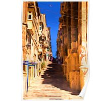 Valletta stairs Poster