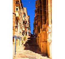 Valletta stairs Photographic Print